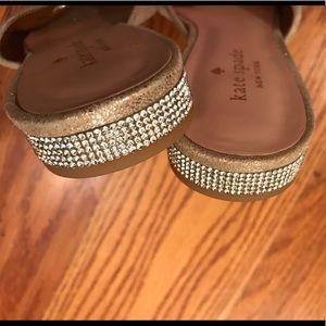 EUC Kate Spade Sandals, Gold